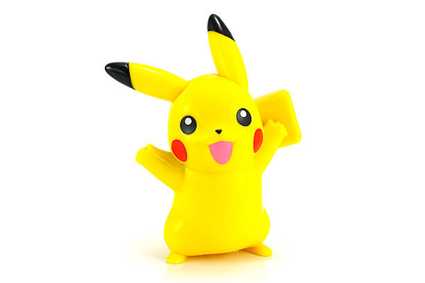 Pickachu toy character from Pokemon anime. Bangkok,Thailand - October 30, 2014: Pickachu toy character from Pokemon anime. There are toy sold as part of McDonald HappyMeal toy. nintendo stock pictures, royalty-free photos & images