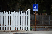 Picket Fence and Sign