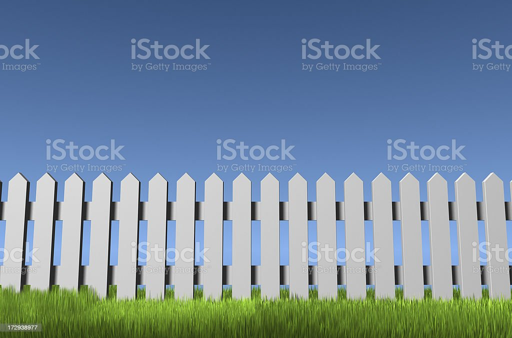 Picket Fence royalty-free stock photo
