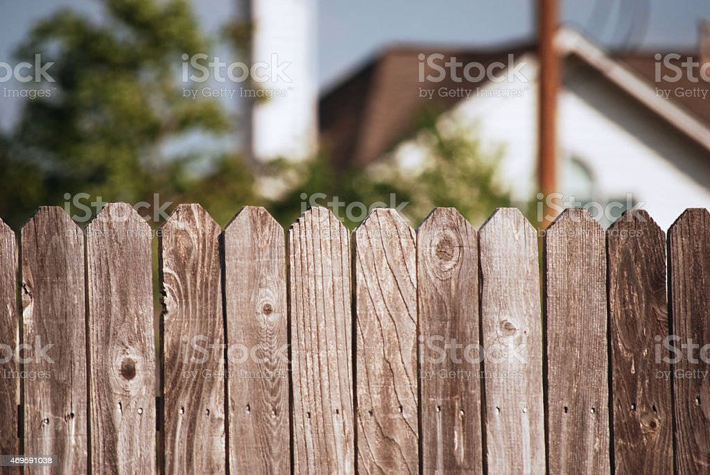 Picket Fence stock photo