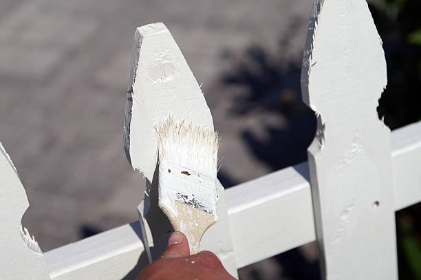 Picketfence painting stock photo