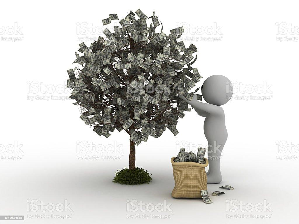 Picking Money royalty-free stock photo