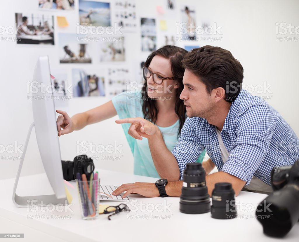 Picking the perfect image stock photo