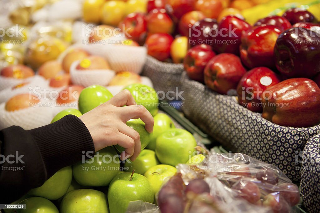 Picking the right apple royalty-free stock photo