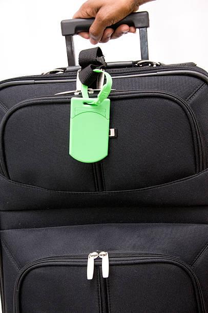Picking up Baggage stock photo
