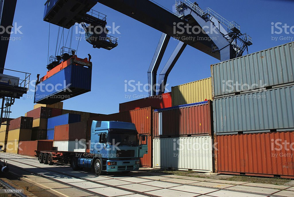 Picking-up of containers royalty-free stock photo