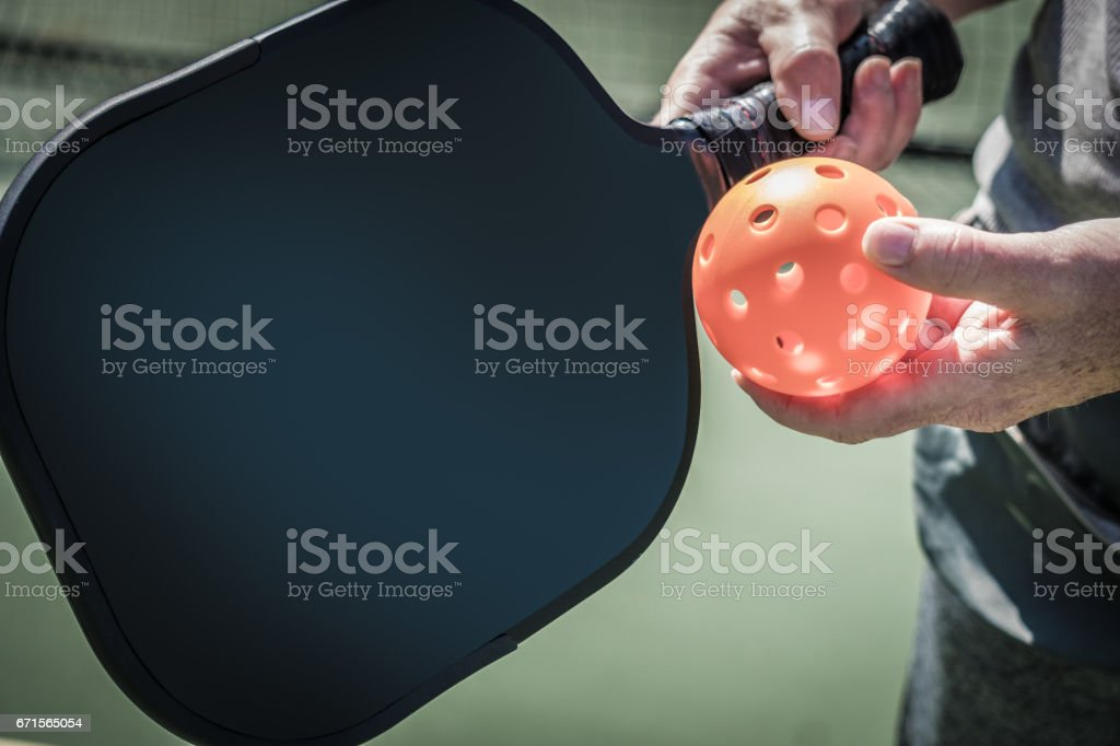 Pickle Ball stock photo