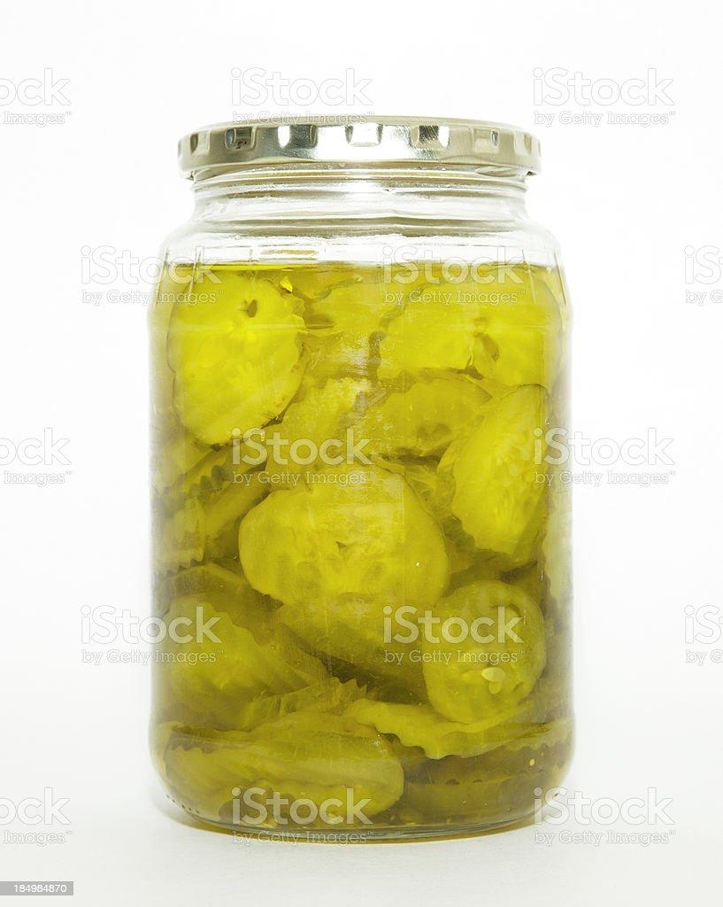 Pickle Jar royalty free stockfoto