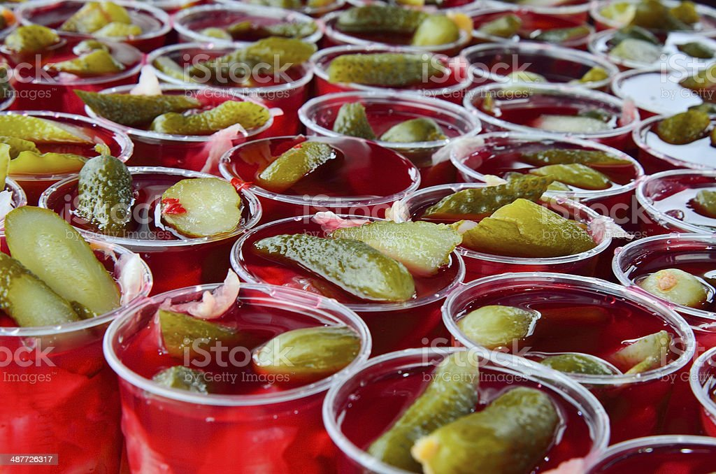 Pickle Juice royalty-free stock photo