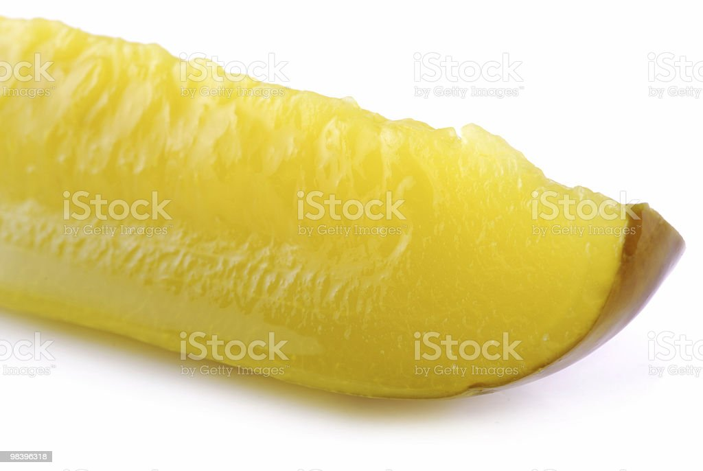 Pickle Slice royalty-free stock photo
