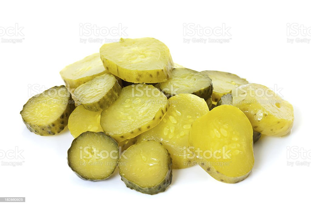 Pickle Slices stock photo