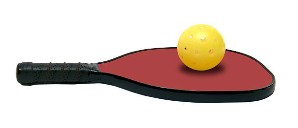 pickleball - horizontal red paddle - table tennis racket stock pictures, royalty-free photos & images