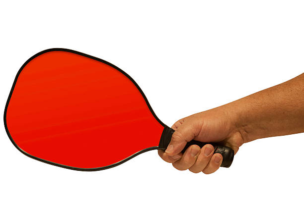 pickleball paddle in hand 1 - table tennis racket stock pictures, royalty-free photos & images