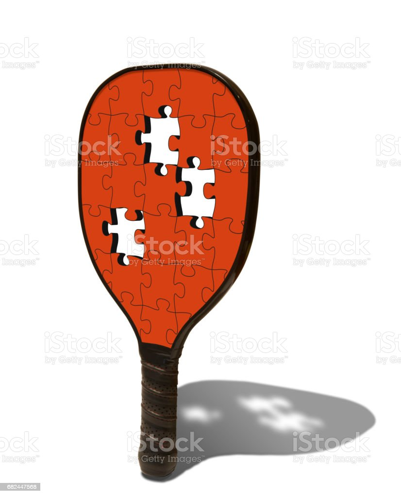 Pickleball Paddle Puzzle royalty-free stock photo