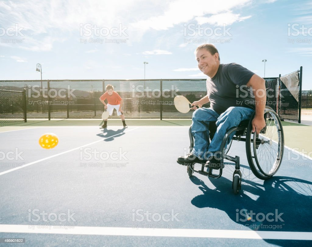 Pickleball Players royalty-free stock photo