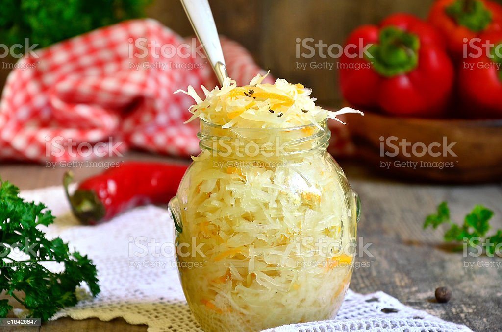 Pickled cabbage. stock photo