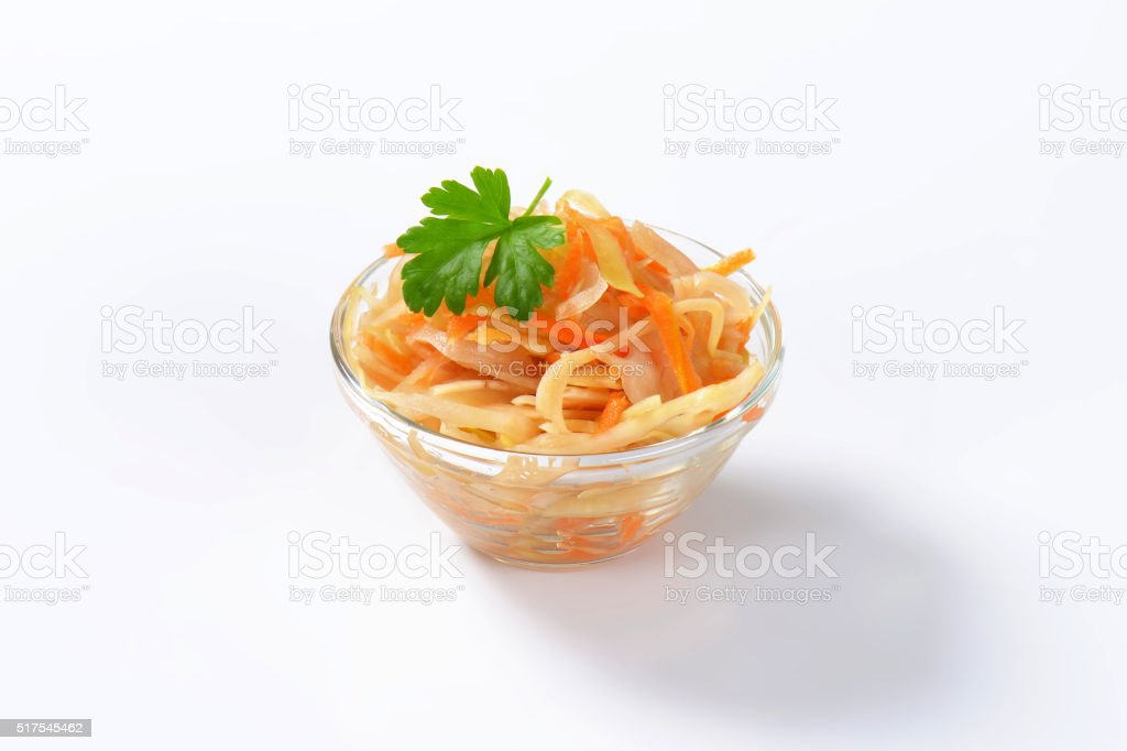 Pickled cabbage salad stock photo