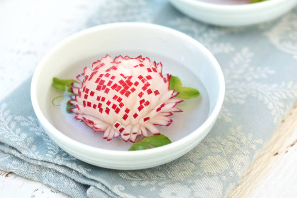 Pickled Cherry Radish stock photo