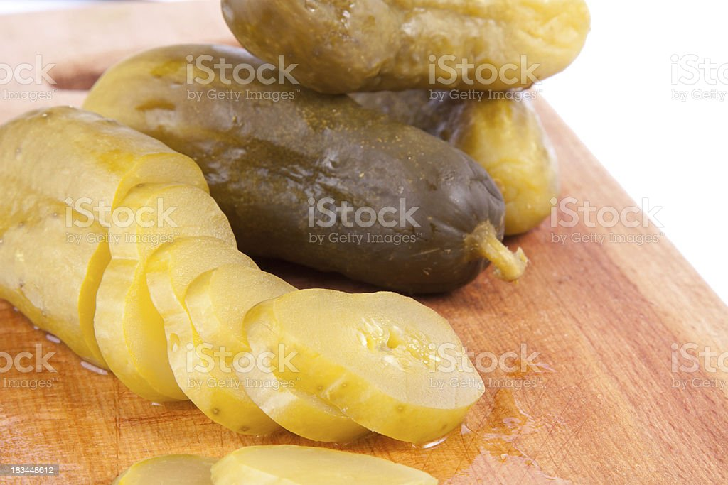 Pickled cucumber royalty-free stock photo