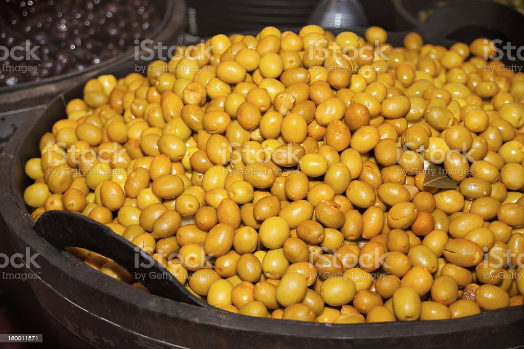 Pickled olives royalty-free stock photo