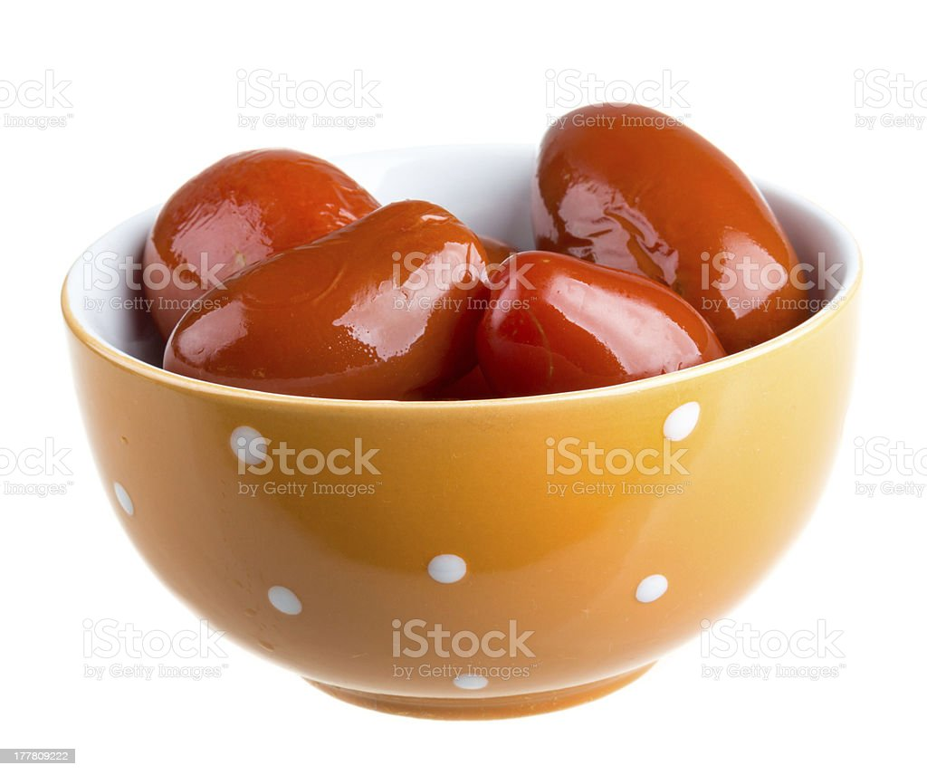 Pickled red tomatoes royalty-free stock photo