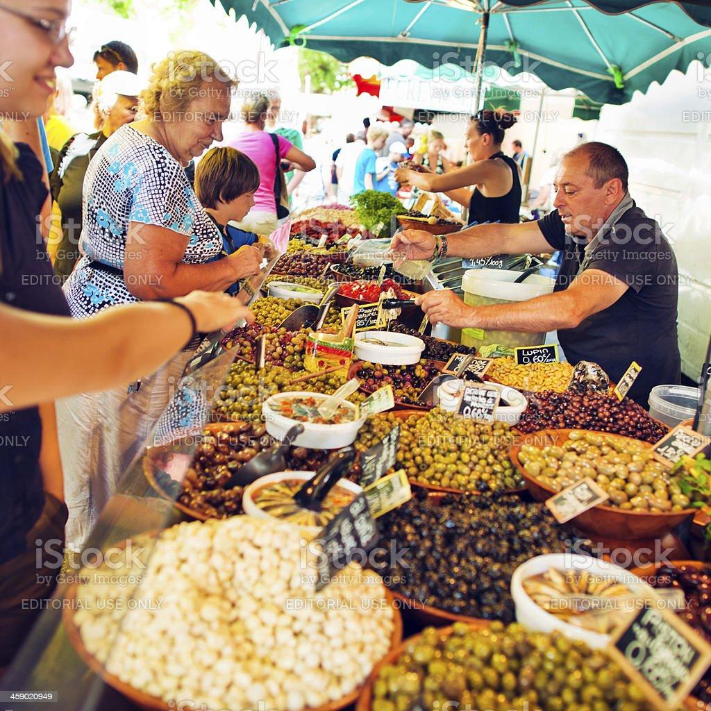 Pickled vegetables'  seller royalty-free stock photo