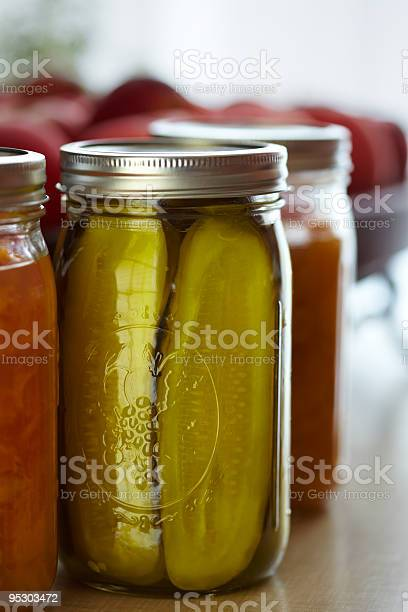 Pickles In Mason Jar Stock Photo - Download Image Now