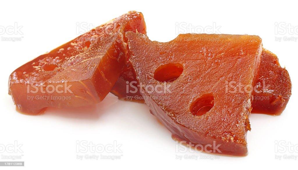 Pickles of Medicinal Bael royalty-free stock photo