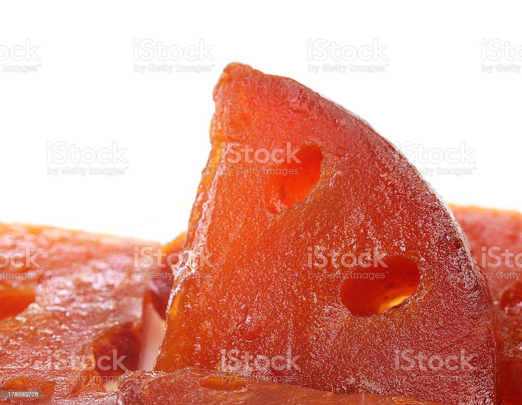 Pickles of Medicinal Bael stock photo