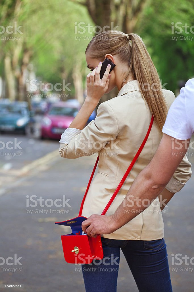 Pickpocketing royalty-free stock photo