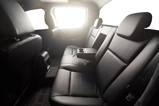 pickup back leather seat - auto interieur stockfoto's en -beelden