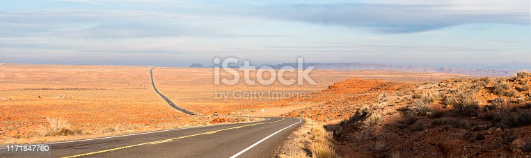 Cars on a road in the USA