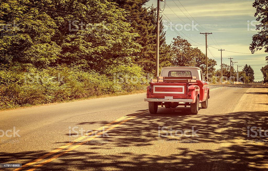 Pick-up Truck RedOld-fashioned stock photo