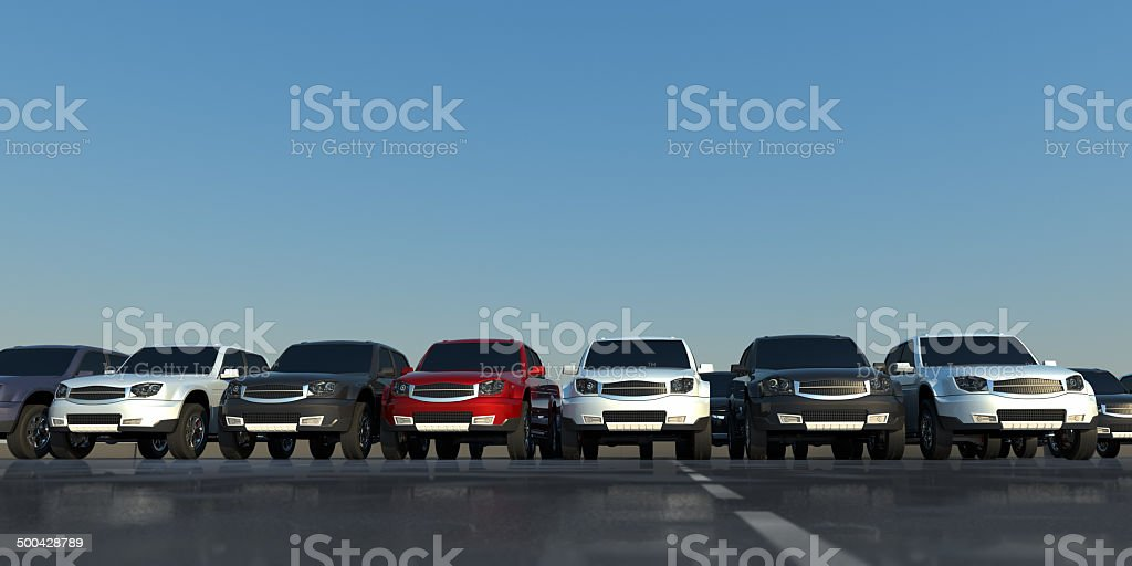 Pick-up trucks stock photo