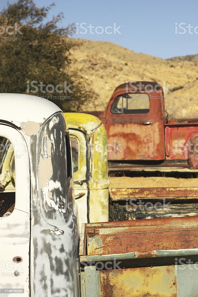 Pick-Up Trucks Vintage Route 66 Vehicle stock photo