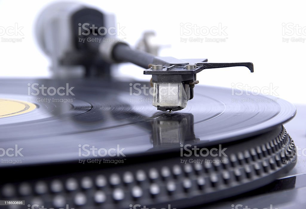 Pickup turntable for rotating plate royalty-free stock photo