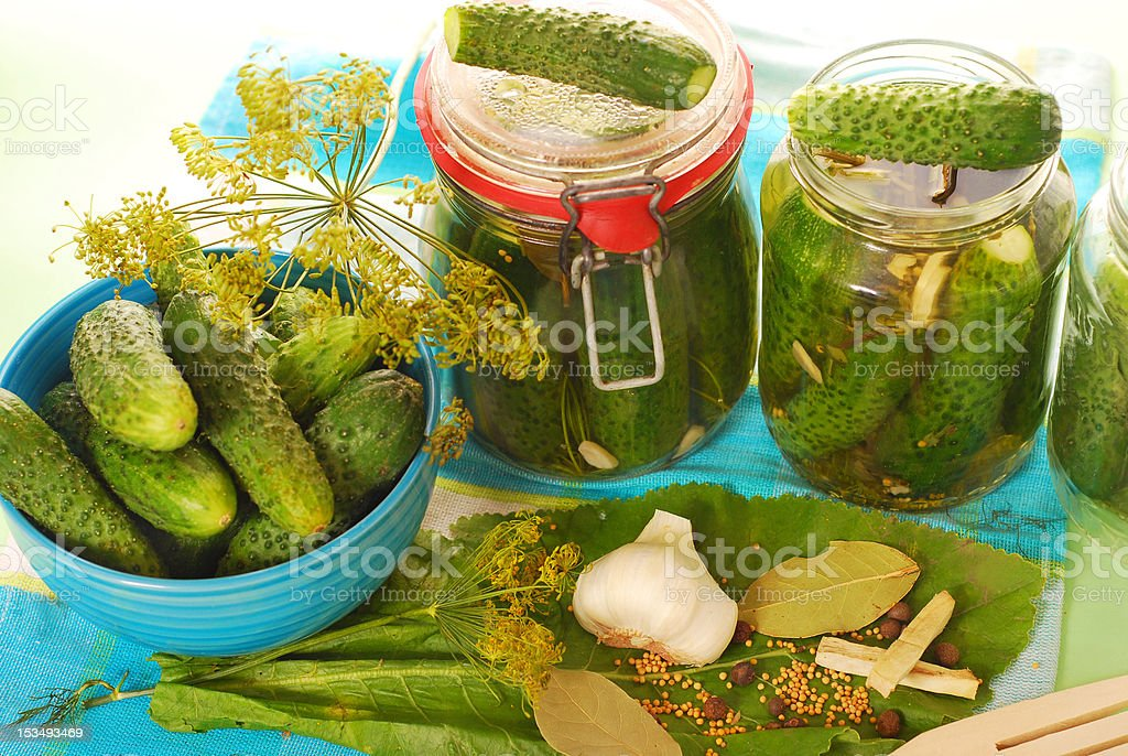 picled cucumbers royalty-free stock photo