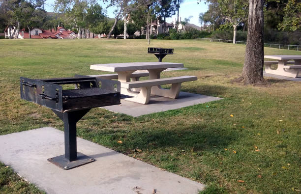 A Picnic Area at the Local Park stock photo
