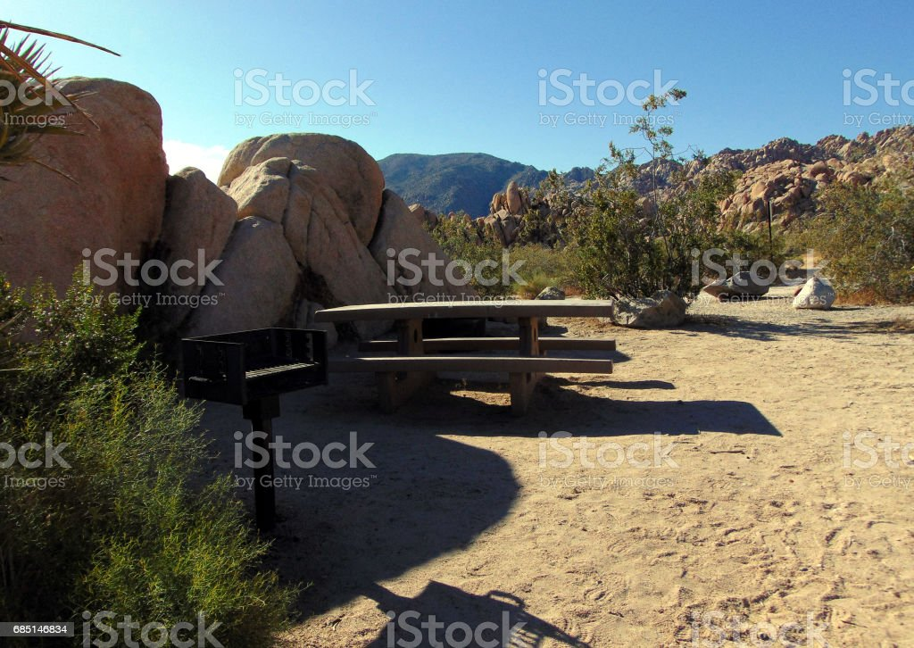 A Picnic Area in the Desert royalty-free stock photo