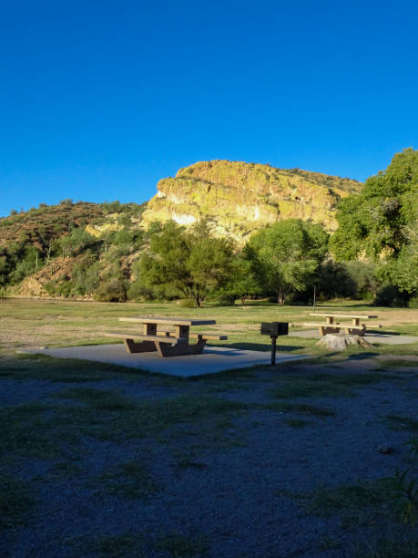 Picnic area in Tonto National Forest stock photo