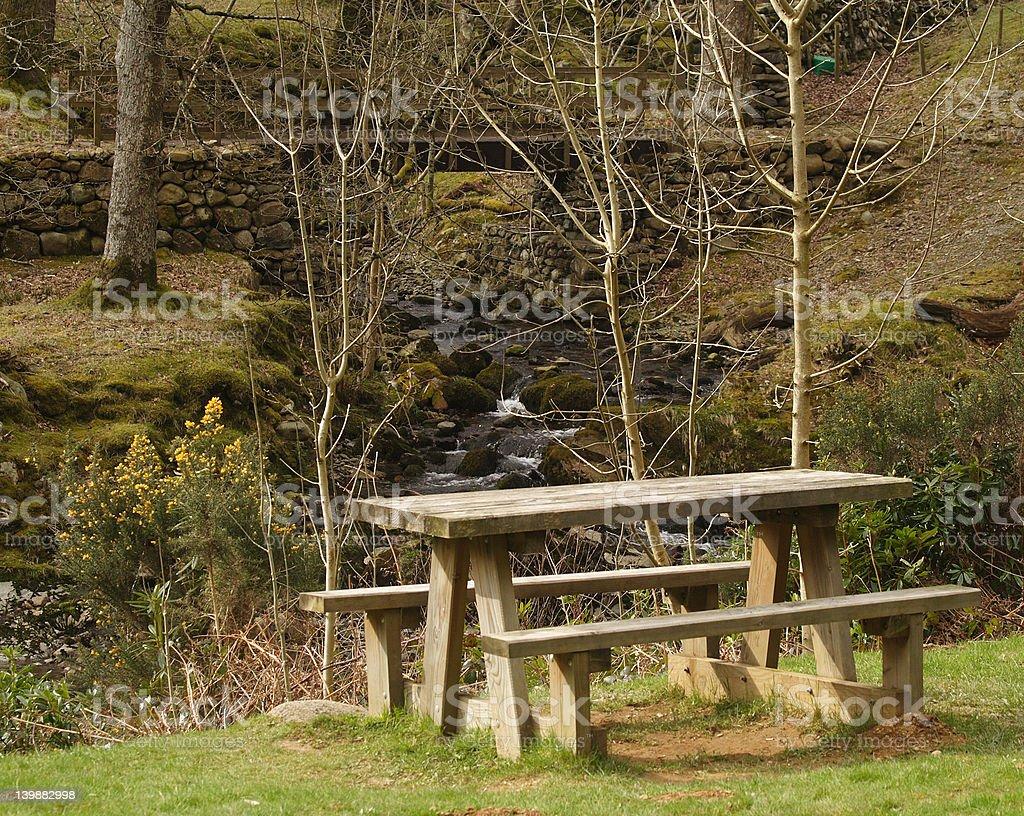 Picnic Bench royalty-free stock photo