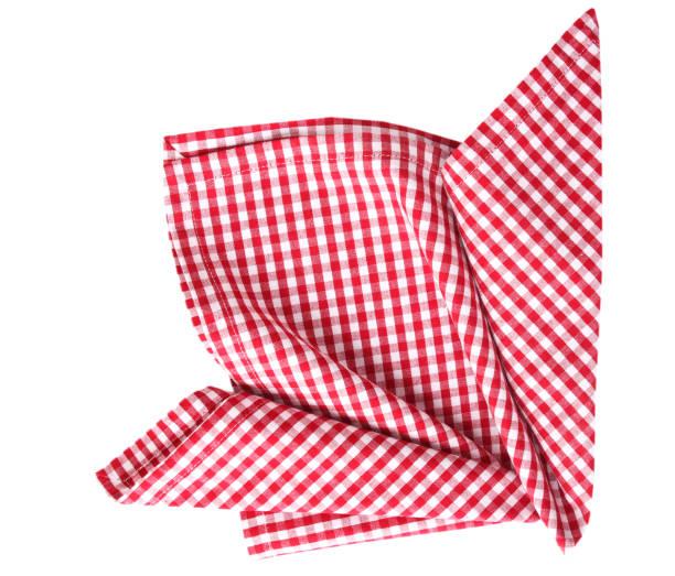 Picnic cloth folded desoration isolated. stock photo