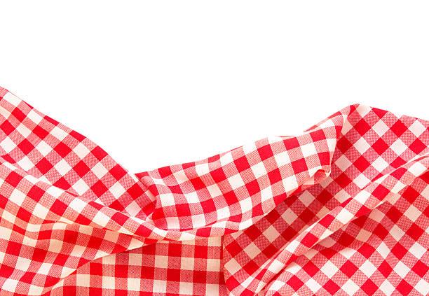 picnic cloth frame isolated. - karo stock-fotos und bilder