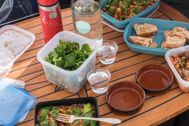 a picnic dinner - alexander farnsworth bildbanksfoton och bilder