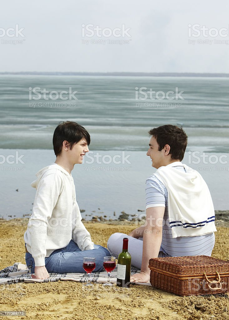 Picnic for two royalty-free stock photo