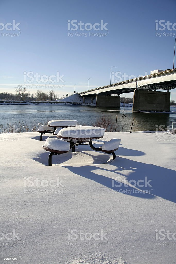 Picnic in January royalty-free stock photo