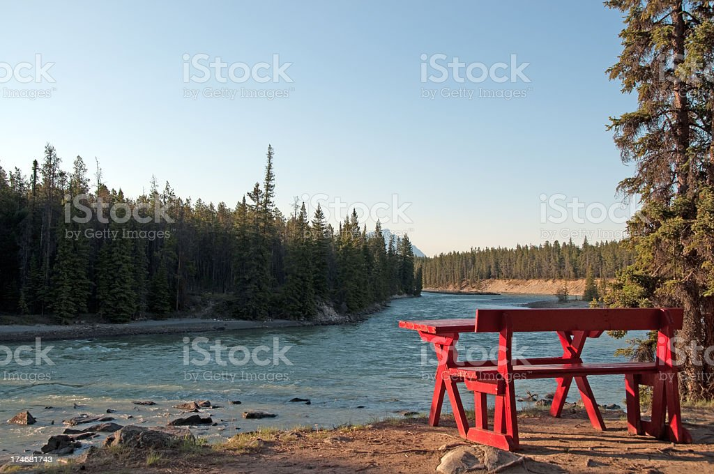 Picnic in The Mountains royalty-free stock photo