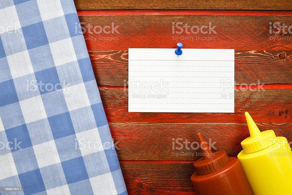 Picnic Notes royalty-free stock photo