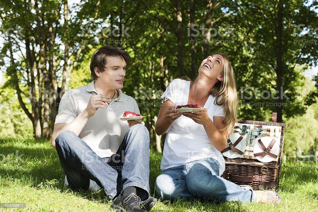 Picknick im Freien im Sommer - Lizenzfrei Aktivitäten und Sport Stock-Foto