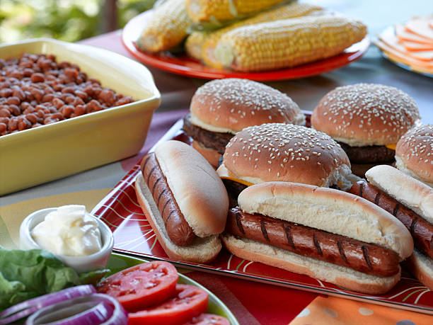 picnic - hot dog stock pictures, royalty-free photos & images